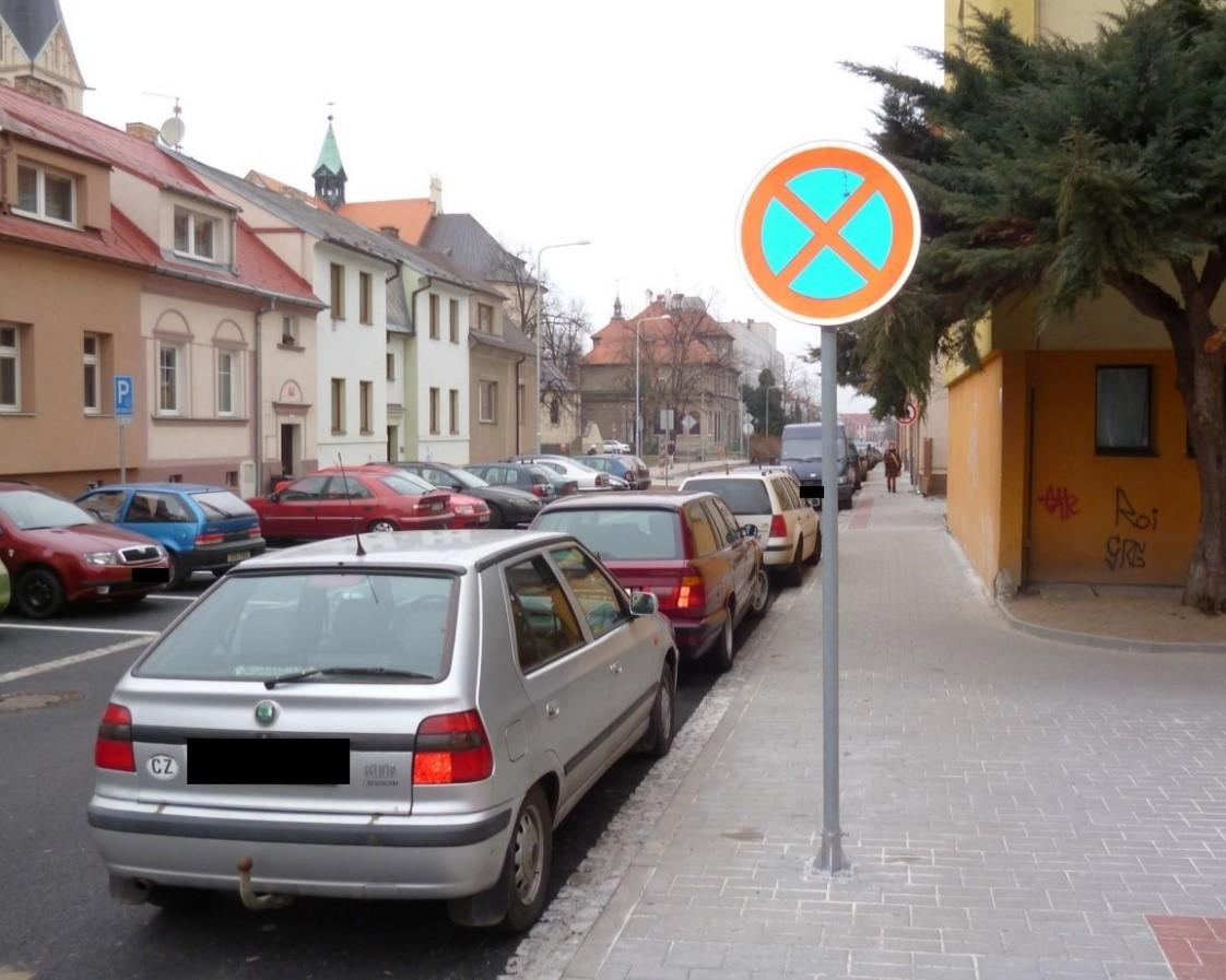 pokuta za parkování na chodníku